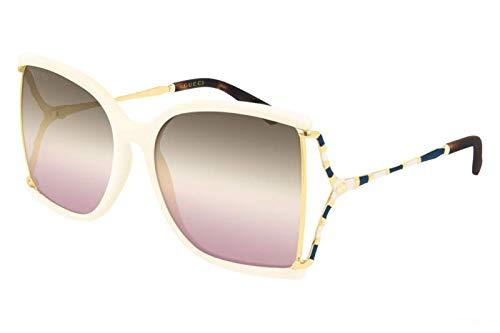 Gucci GG0592S-005 occhiali da sole, IVORY, 60.0 Donna