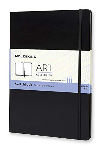 Moleskine Art Sketchbook, Hard Cover, A4 (8.25' x 11.75') Plain/Blank, Black, 96 Pages