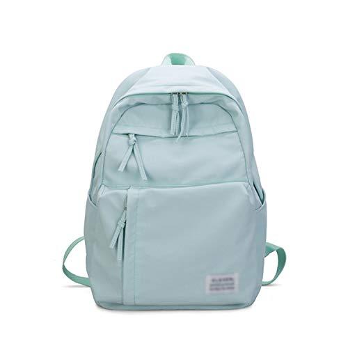 YY Cherry Large Girls School Bags For Teenagers Backpacks Nylon Waterproof Teen Student Book Bag Big College Leisure Schoobag Blue,Blue