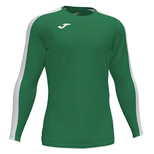 Joma Academy Camiseta Juego Manga Larga, Hombres, Verde-Blanco, L