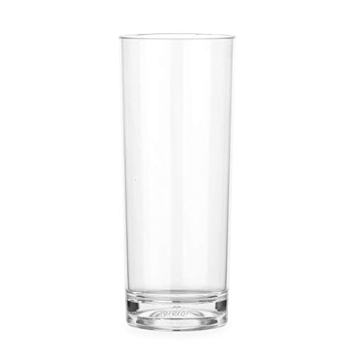 Lay-Z-Spa BWA0009 Premium Tumblers, Virtually Unbreakable Ultra Clear Glasses, Reusable and Dishwasher Safe, Ideal for Hot Tubs, Pools, Camping and Picnics, 340 milliliters, Transparent, Set of 4