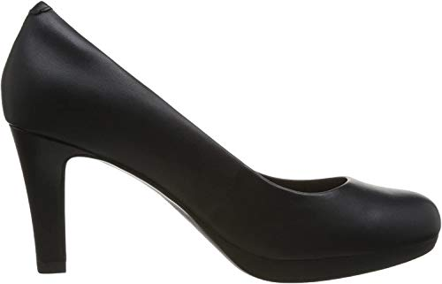 Clarks Damen Adriel Viola Pumps, Schwarz (Black Leather), 37.5 EU