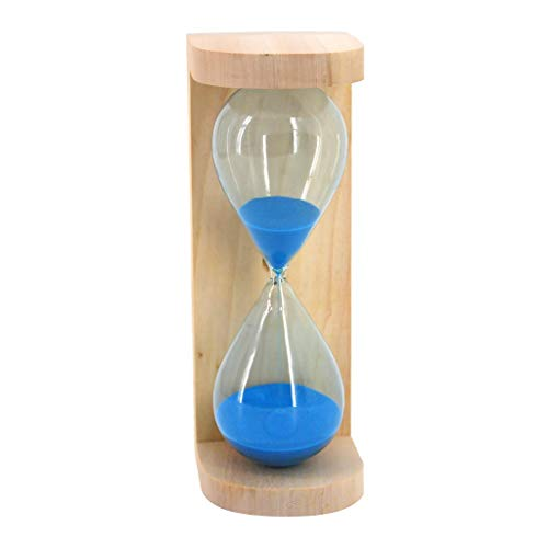 Backbayia Sanduhr Sandclock Zeitmesser Timer Kinder Spielzeug Dekoration für Zuhause/Büro (Blau)