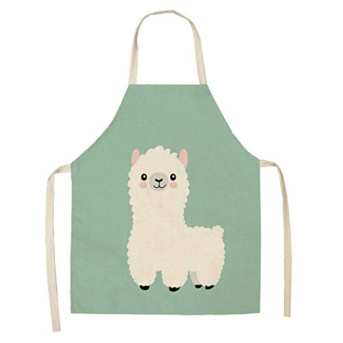 Llama Apron Kids Apron for Birthday Party's, Gardening, Kitchen, Cooking, Baking Chef Activity Size for Girl, Boy, Teen, Kids and Medium Size Adults 8 Years Old and up, Women, Mommy and Me