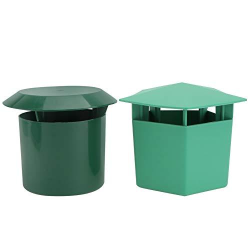 YARNOW 2Pcs Schnecke Falle für Gärten Blumenbeete Und Gemüse Patches- Reusable Eco- Freundliche zu Fangen Schnecken Schnecken Catcher (Grün)