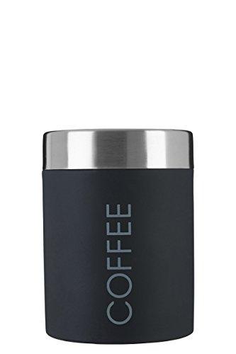 Premier Housewares Barattolo per il caffè smaltato con chiusura di gomma, colore: Nero