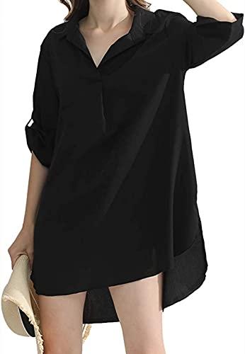 Ropa Vestido de Playa Suelto de Bikini Verano Vacaciones Cover Up Blusa de Playa para Mujer para Fiesta en La Piscina Vacaciones en La Play