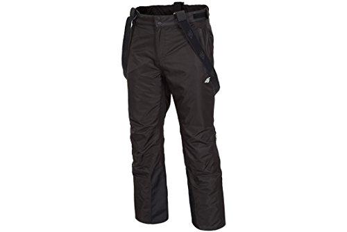 Pantalon de ski homme 4 F SPMN001 Pantalon à bretelles Pantalon de snowboard étanche pour piste de ski | Pantalon avec bordure de protection colonne de neige hiver Colonne d'eau 5000 (Noir) XXL noir