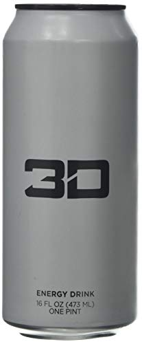 3D Energy Drink 473ml X 12 White