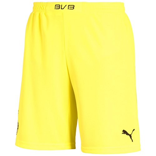 Puma Herren BVB Home Replica Shorts, Blazing Yellow/Black, S, 743561 02