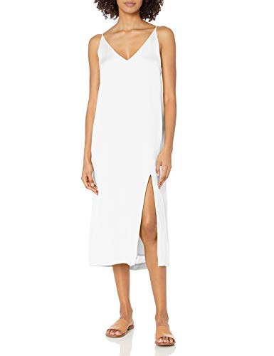 Seafolly Damen Linen Blend Slip Dress Swimwear Cover Up Bademodeüberzug, Spirit Animal White, Medium