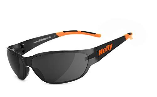 Helly® - No.1 Bikereyes® | H-FLEX®- unzerbrechlich, beschlagfrei, HLT® Kunststoff-Sicherheitsglas nach DIN EN 166 | Bikerbrille, Motorradbrille, Sportbrille | Brille: airshade