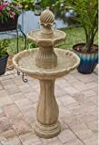 Ark Dcor- Backyard Water Fountains Outdoor - Sandstone Painted Resin with Pump - Bring Charm to Your Garden Or Veranda with This Eye-Catching Fountain