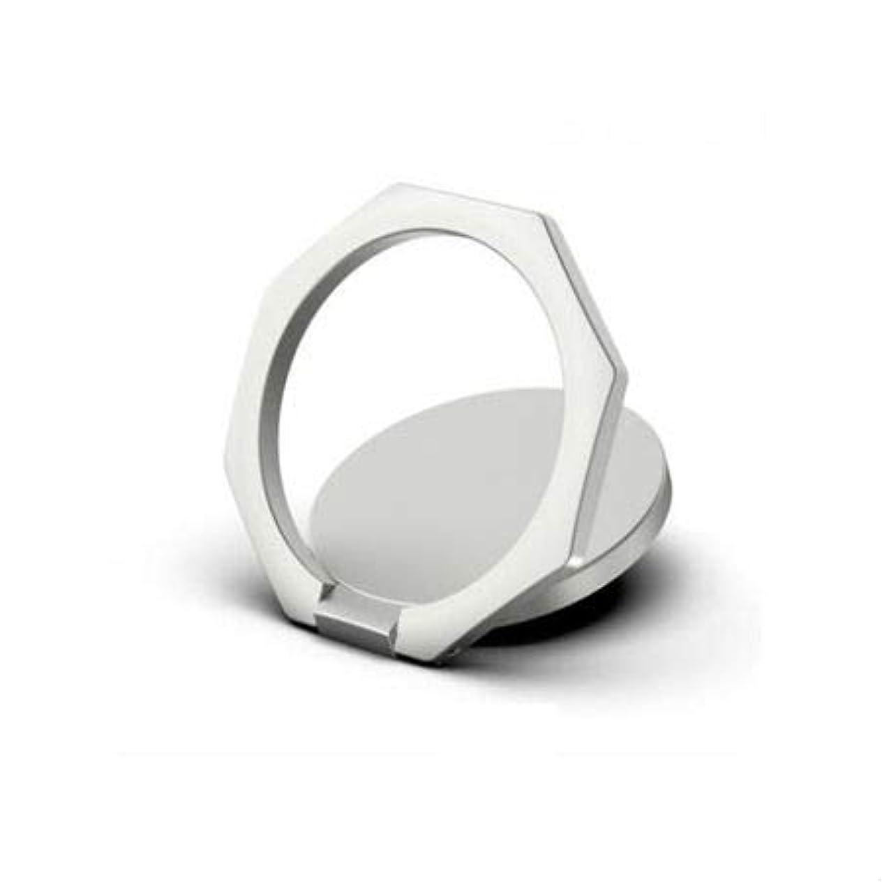 気怠い候補者役員スマホリング silver 銀 携帯リング バンカーリング 落下防止 iPhone スマホ 携帯 電話 リング リングスタンド 指輪型 軽い 薄い 安定 全機種対応 ホルダー リング ホールドリング スタンド