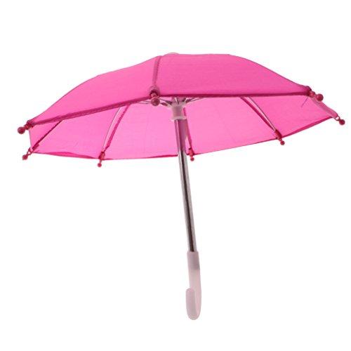 Perfeclan Puppenzubehör Miniatur Schirm Regenschirm Stockschirm für Puppenkleidung Zubehör