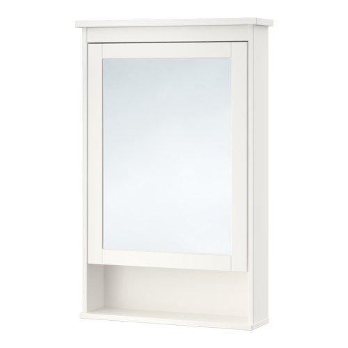 Armario con espejo de alta calidad HEMNES con 1 puerta, color blanco