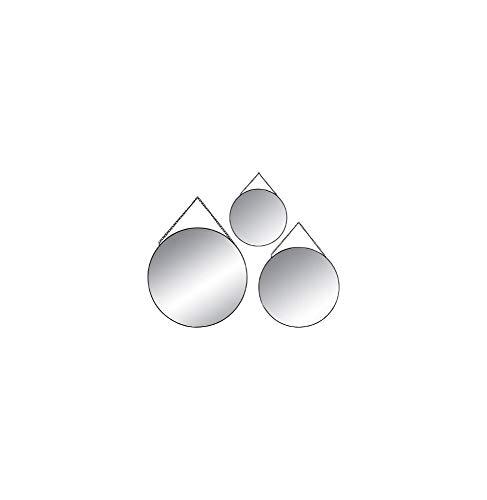 Conjunto de 3 espejos metálicos redondos