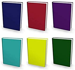 Book Sox Stretchable Book Cover: Jumbo 6 Ultra Color Value Pack. Fits Most Hardcover Textbooks up to 9