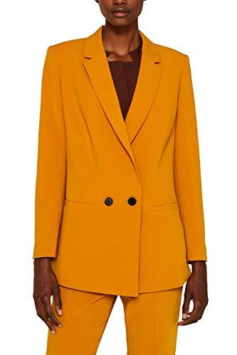 ESPRIT Collection Damen 099Eo1G060 Anzugjacke, Gelb (Amber Yellow 700), (Herstellergröße: 34)