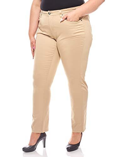 Sheego Pantaloni in Tessuto Elasticizzato Jeans Large Beige, Dimensione:58