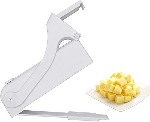 Cortador de mantequilla con un solo clic, divisor de queso, cortador de mantequilla, para almacenar mantequilla para hacer pan, pasteles, galletas Coldiroch