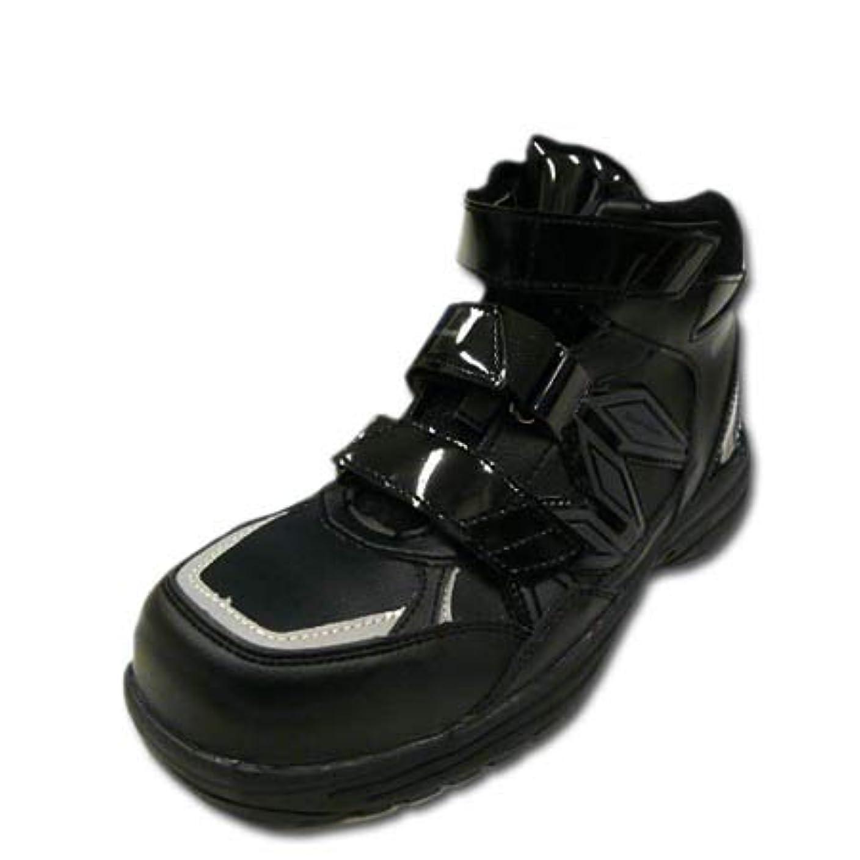 違反するヘクタール仕事安全靴 安全スニーカー マンダムセーフティ #742 樹脂先芯 ミッドカット セーフティシューズ 軽量 耐油 ブラック
