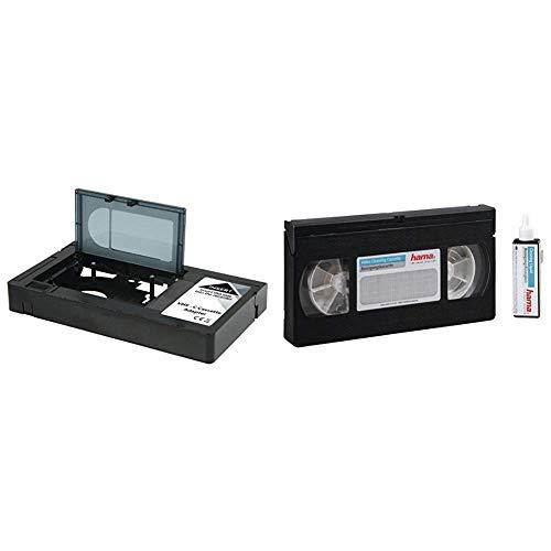 König KN-VHS-C-Adapt VHS-C-Kassettenadapter & Hama Video-Reinigungskassette inkl. Reinigungsflüssigkeit für eine Feuchtreinigung (VHS/S-VHS/VHS-C/S-VHS-C)