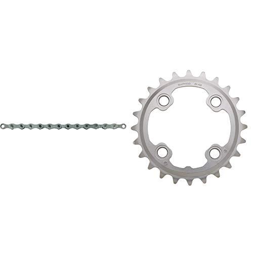 SHIMANO Deore XT CNHG95 - Cadena para Bicicleta XT 10 velocidades, 116 Eslabones + 24D M785 XT (38/24) 10V Plato, Multicolor, Talla Única