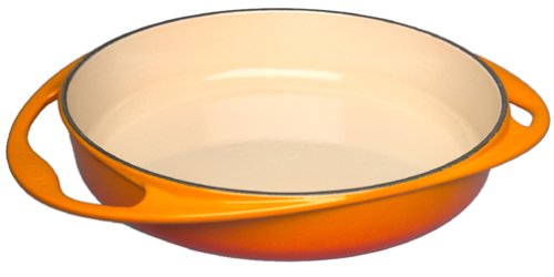 Le Creuset Cast Iron Tartin Baking Dish, round, Ø 25 cm, suitable for all types of stoves incl. Induction, oven red