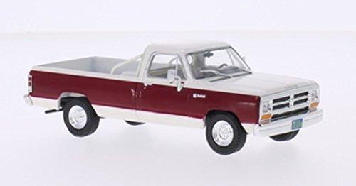 Dodge Ram, blanche/rouge foncé, 1987, voiture miniature, Miniature déjà montée, WhiteBox 1:43