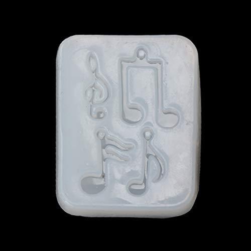 SUSHUN Nota musical colgante silicona molde resina joyería fondant pastel DIY molde herramientas