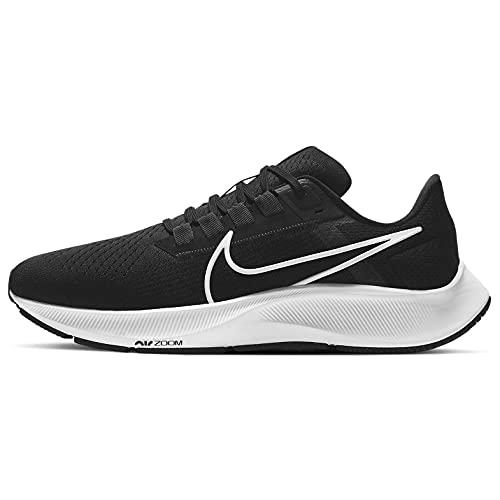Nike Air Zoom Pegasus 38, Scarpe da Ginnastica Uomo, Black/White-Anthracite-Volt, 41 EU
