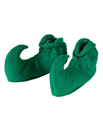Horror-Shop Gartenzwerg & Elf Schuhüberziehen Grün als Kostümzubehör für Fasching