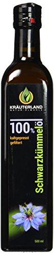 Kräuterland Natur-Ölmühle ägyptisches Schwarzkümmelöl, gefiltert, milder Geschmack, 500 ml