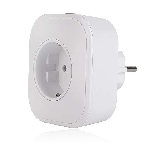 Fesjoy Paquete con 2 WiFi Mini Enchufe Inteligente Enchufe de la UE AC100 – 240 V 10 A Mando a Distancia Smart Timing Interruptor Compatible con Alexa/Google Assistant/Blanco