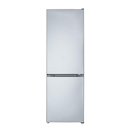 CHiQ FBM318NEI32N Freistehender Kühlschrank mit Gefrierfach 318L | Kühl-Gefrierkombination No frost mit moderner Inverter Technologie | leise 39 db | 185,5 x 59,5 x 64,2 cm (HxBxT), Inox Look