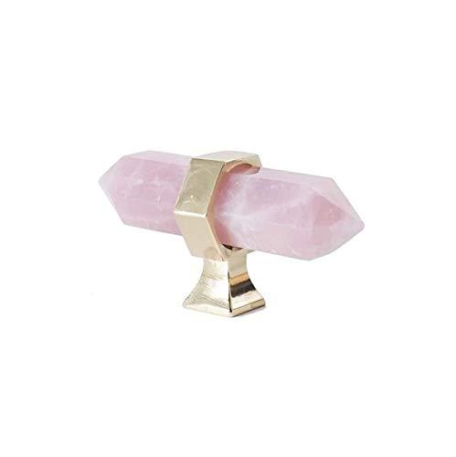 DFG Manija de cristal + latón Perillas de armario Pomo Manija de aparador Perillas de cajón Tiradores de muebles elegantes Hardware