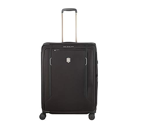 %30 OFF! Victorinox WT 6.0 Softside Spinner Luggage, Black, Checked-Large (27)