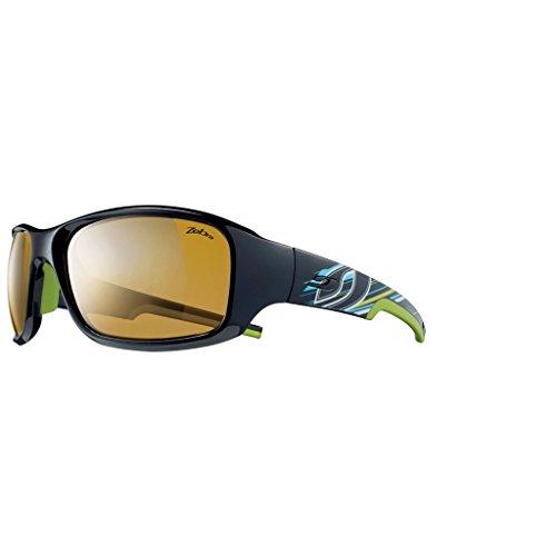 Julbo Stunt Zebra - Gafas de Ciclismo, Color Negro/Verde, Talla L