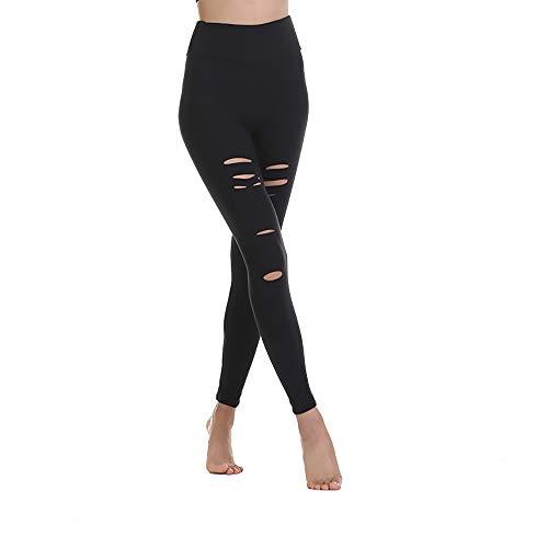 StarLifey Damen Sport Leggings mit Löcher - Blickdicht Lange Sporthose Yogahose High Waist Fitness Yoga Hose Streetwear