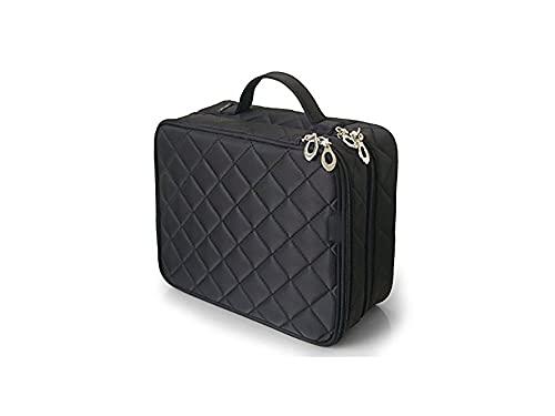Recet Neceser de maquillaje de doble capa para mujer, bolsa de cosméticos grande, bolsa de viaje para maquillaje y artículos de tocador
