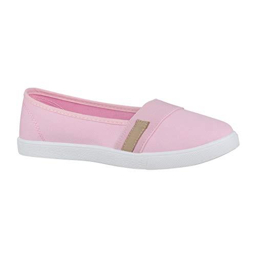 Elara Bailarina de Mujer Zapatillas Planas y Cómodas Chunkyrayan CL33310 Pink-36