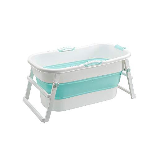 HUACANG Plegable Bañera Adulto Bebé Universal Material Plastico PP Cubo De Baño Piscina para Bebés Diseño Plegable para Un Fácil Almacenamiento (Color : Verde, Size : No Cover)