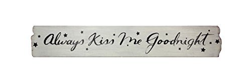 Young's Wood Always Kiss Me Goodnight Decorative Sign, 40' x 6.5' x 0.5'