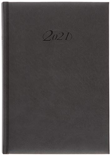 Stylex 90071 Buchkalender 2021Chefkalender A5 Timer schwarz