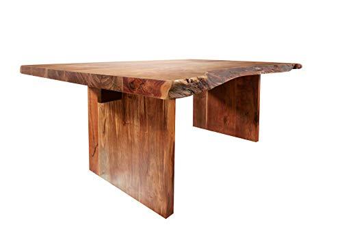 MASSIVMOEBEL24.DE Esstisch Baumtisch Landhausstil walnuss lackiert Holz230x110 Akazienholz Freeform #104