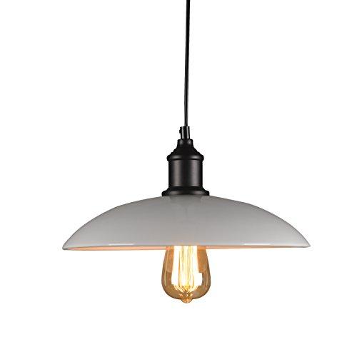 Louvra Suspension Luminaire E27 Métal Abat-jour Eclairage Plafond Style Industrielle Vintage Eclairage