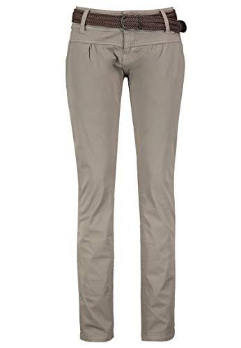 Urban Surface Pantaloni Chino da Donna | Eleganti Pantaloni in Tessuto con Cintura Intrecciata in Comodo Cotone Grigio M