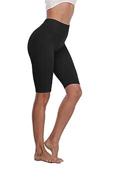 Kotii Women s Plus Size Short Leggings Modal Cotton Shorts Under Dresses Leggings Pants,Black,2X