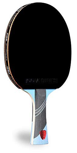 JOOLA Omega Speed – Tischtennisschläger für fortgeschrittenes Training mit ausgestelltem Griff – Turnierniveau Ping Pong Paddel mit Torrent 33 Tischtennisgummi – entwickelt für Geschwindigkeit